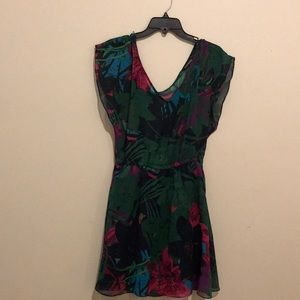 express // tropical style dress